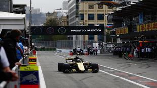 Hulkenberg en el circuito de Bakú