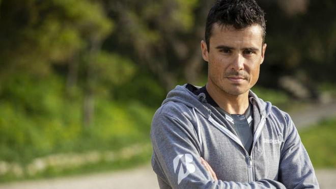 Javier Gómez Noya (35 años), durante la grabación de un spot con...
