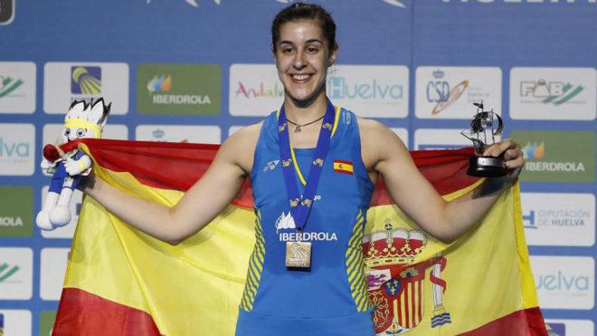 Carolina Marín, en lo más alto del podio continental en Huelva