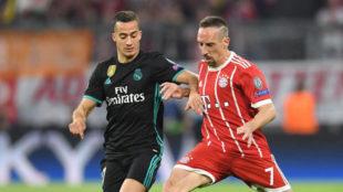 Lucas y Ribery, en el partido de ida.