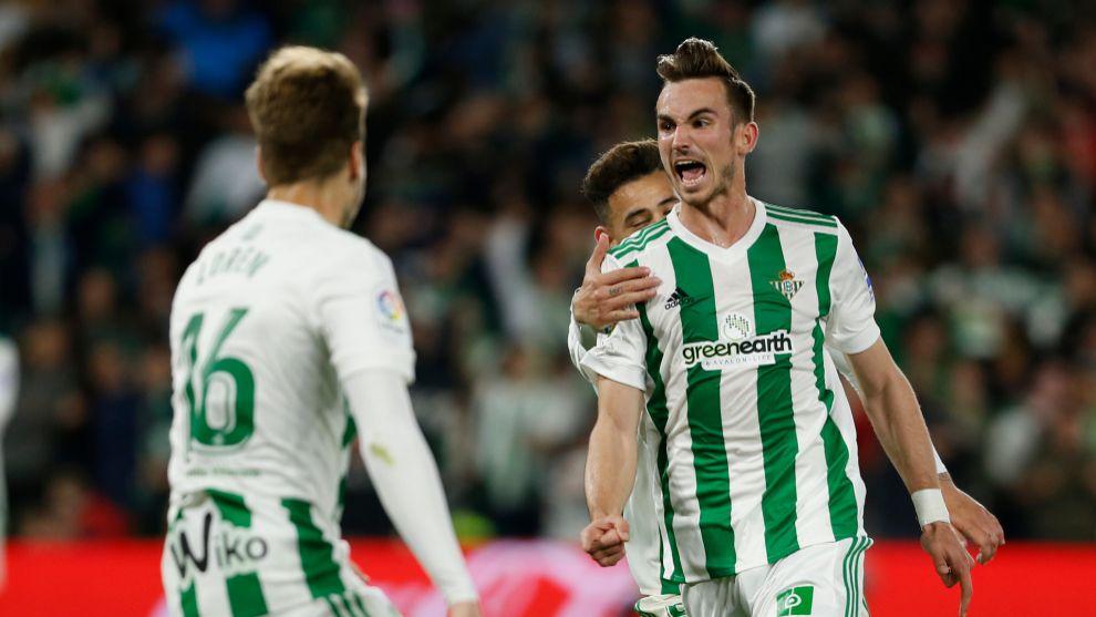 Fabián, celebrando su gol