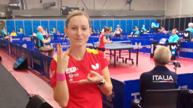 Galia Dvorak tras ganar a la australiana Melissa Tapper.