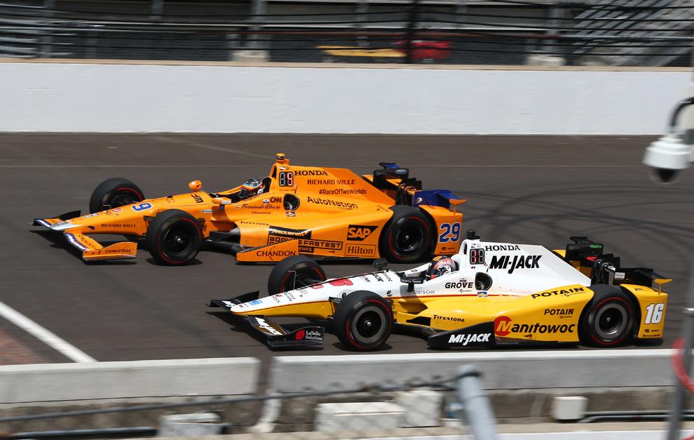 Serviá y Alonso, en las 500 Millas de Indianápolis de 2018