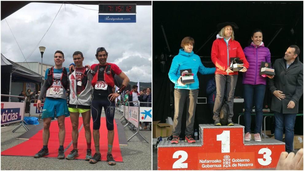 Los podios masculinos y femeninos.