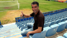 Víctor Afonso, durante un reportaje.