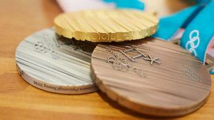 Las medallas de los Juegos Olímpicos de Pyeongchang.