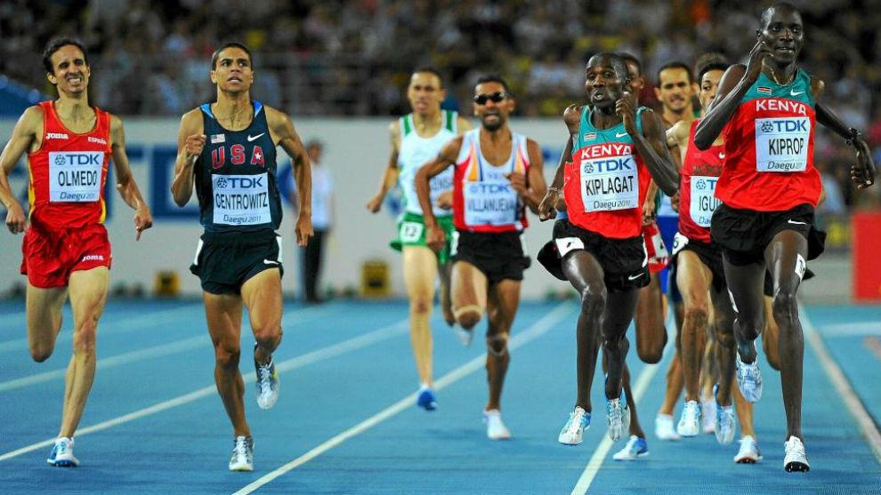 Kiprop, durante la final de los 1.500 metros del Mundial de Daegu...