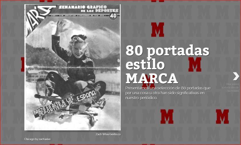 80 años, 80 portadas históricas de Marca