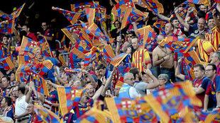 La afición del Barcelona, en la final de la Copa del Rey 2015.