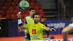 'Sanyo' Gutiérrez, durante el encuentro de cuartos de final