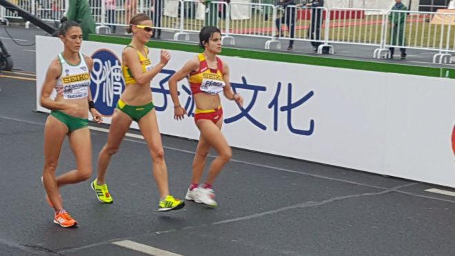 María Pérez, durante un momento de la competición