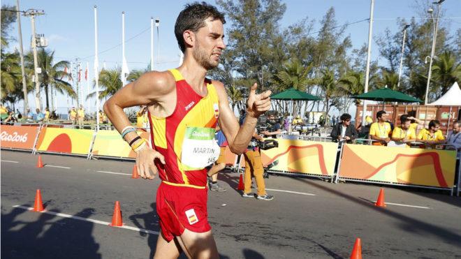 Álvaro Martín, durante los Juegos de Río