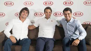 Daniel Caverzaschi, Rafa Nadal y Joan Munar, embajadores de KIA.