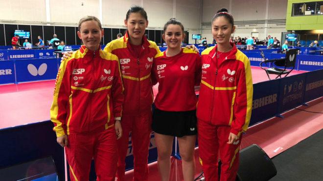 Galia Dvorak, Sofía Xuan-Zhang, Ana García y María Xiao.