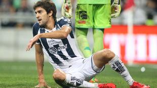 Lucas Albertongo durante la vuelta de los cuartos de final ante...