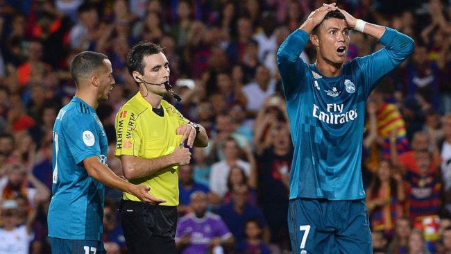 Cristiano, expulsado en la ida de la Supercopa.