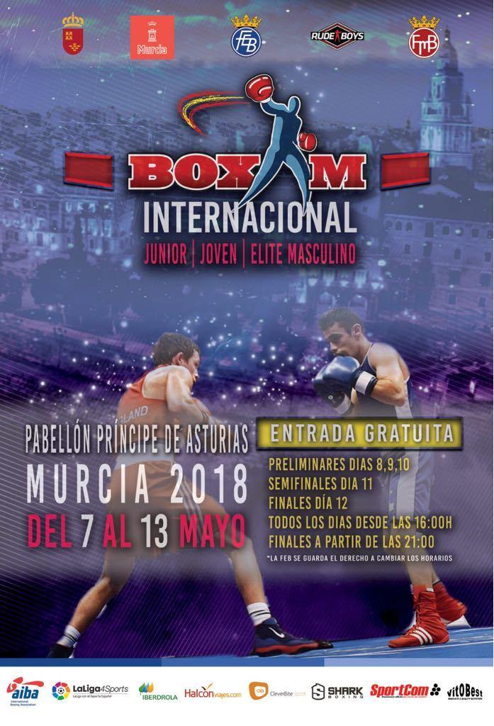 Cartel del Boxam Internacional que se disputa en Murcia