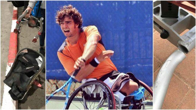 Dani Caverzaschi jugando con una silla prestada a la que tuvo que...