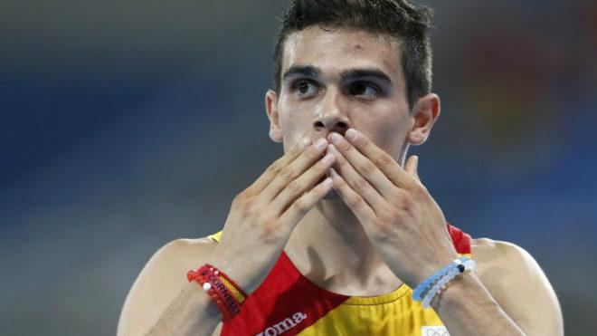 Bruno Hortelano tras una carrera en los Juegos de Río.