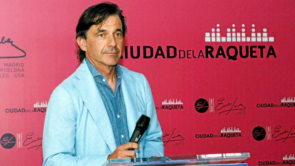 Emilio Sánchez Vicario durante un acto en la Ciudad de la Raqueta
