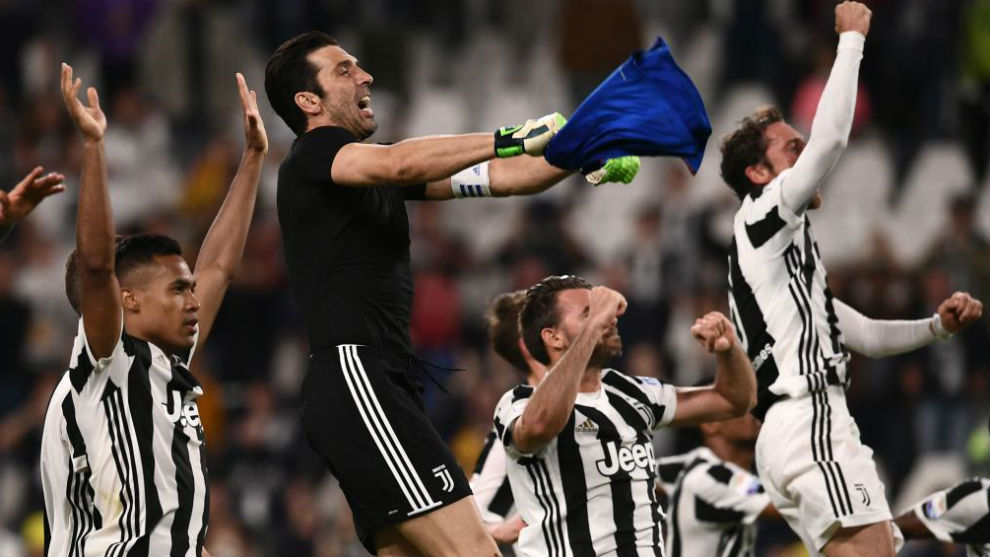 La Juventus celebra una victoria esta temporada