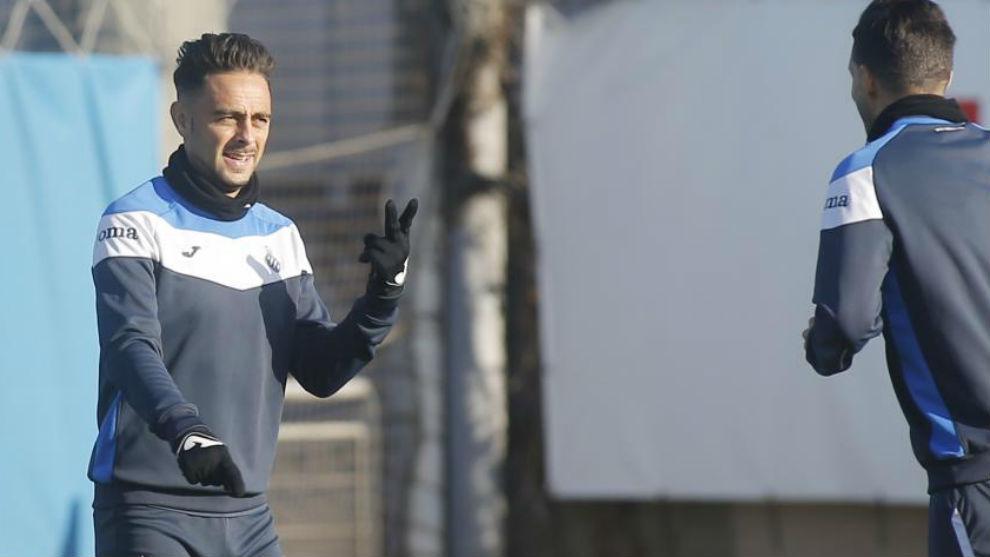 Sergio García, en un entrenamiento.