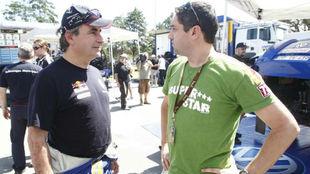 Carlos Sainz y Jaime Martín, en el Dakar 2010.