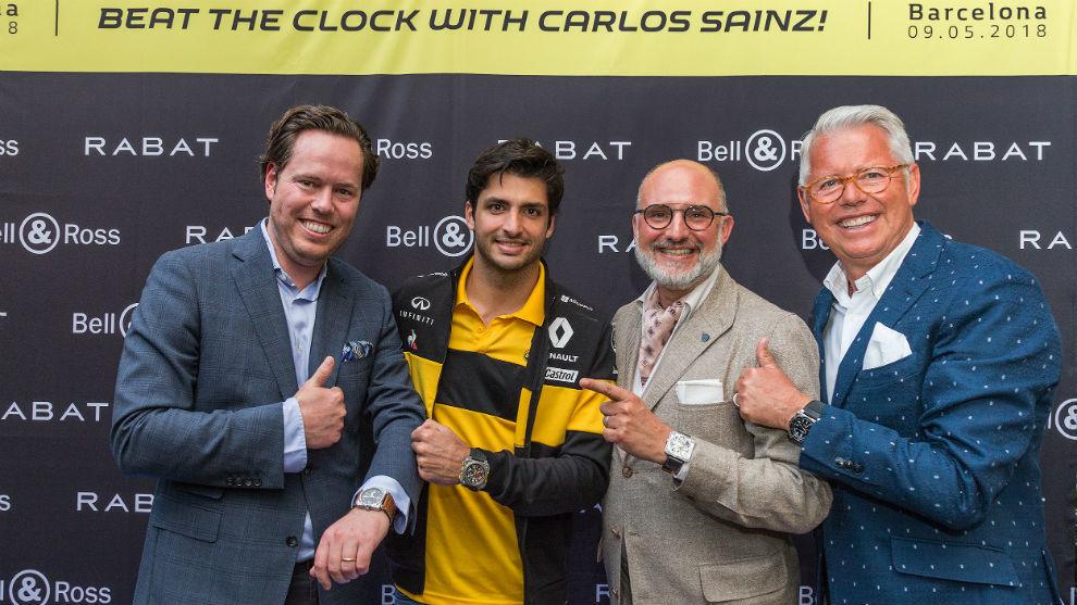 Jordi Rabat, Sainz, Carlos Rosillo, de Bell&Ross y Esteve Rabat.