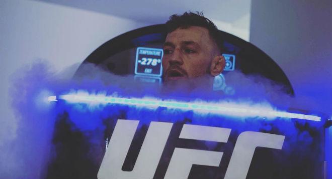 Conor McGregor, durante una sesión en la cabina de Cryosense.