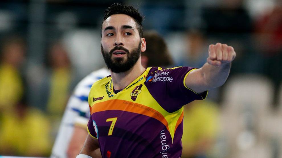 Valero Rivera celera un gol durante su etapa como jugador del Nantes