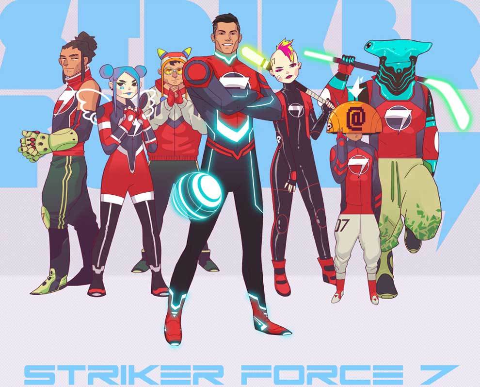 Cristiano Ronaldo, un superhéroe animado en Striker Force 7