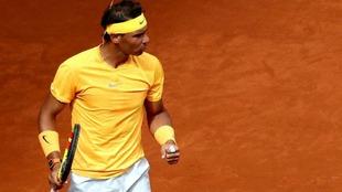 Rafa Nadal celebra un punto conseguido en un partido del Másters de...