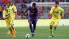 Dembélé, contra el Villarreal.