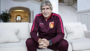 Manuel Pellegrini posa para MARCA en una entrevista.
