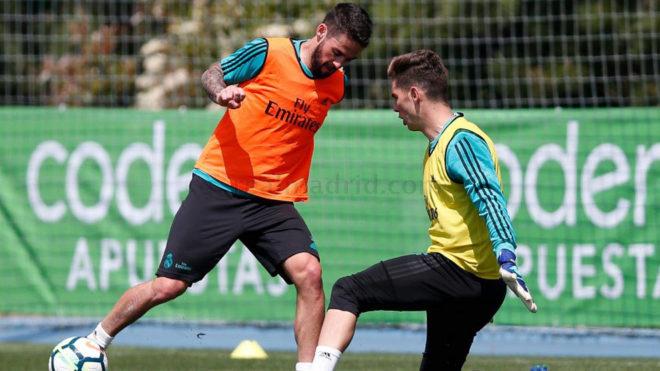Isco y Luca, en el entrenamiento.