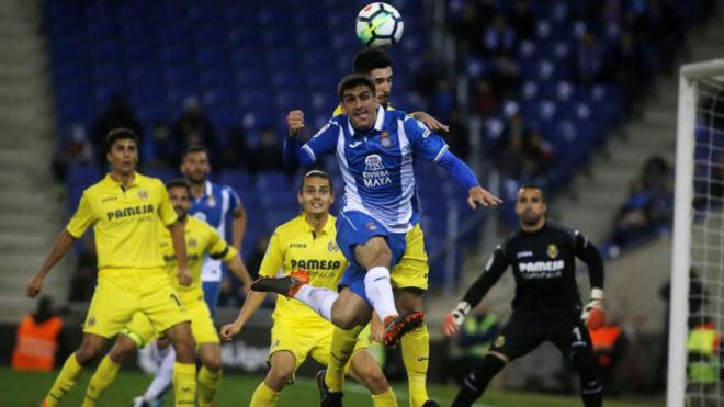 Gerard Moreno, en un partido ante el Villarreal.