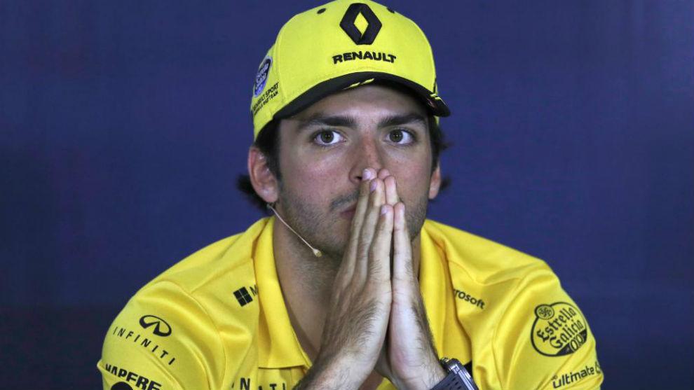 Carlos Sainz, en la rueda de prensa.