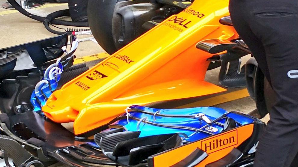 Así es el espectacular alerón delantero que llevará Alonso.