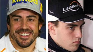 Alonso, en 2018 y en 2001.
