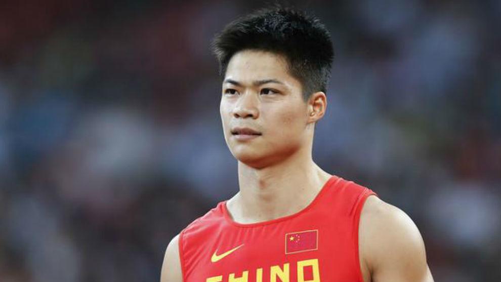 El chino Su Bingtian, subcampeón mundial de 60 lisos.