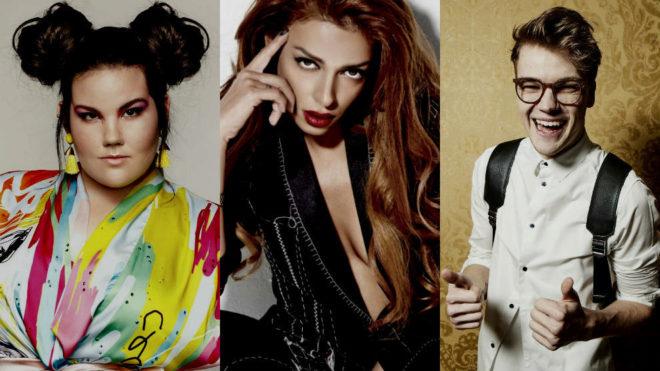 Netta, Eleni Foureira y Mikolas Josef son tres de los favoritos
