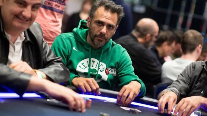 Mariano Zabaleta, durante una partida en el PokerStars and...