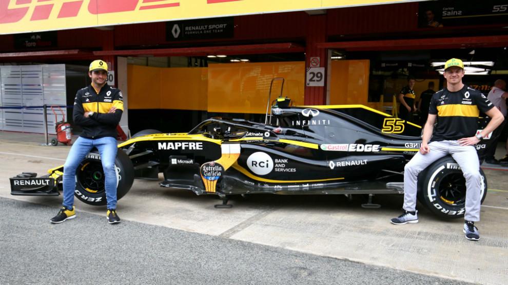Carlos Sainz y Nico Hulkenberg junto