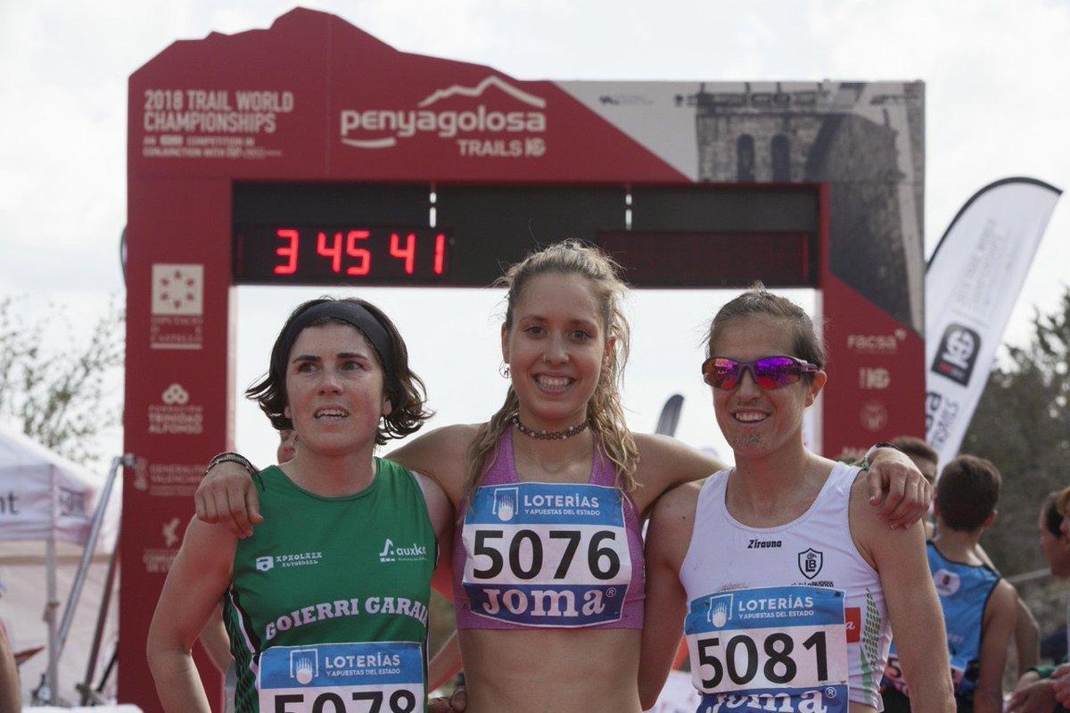 El podio femenino: Ainhoa Sanz, Sheila Avilés y Ainhoa Sanz.