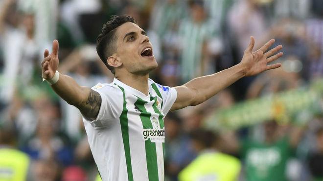 Bartra celebra su gol en el derbi.