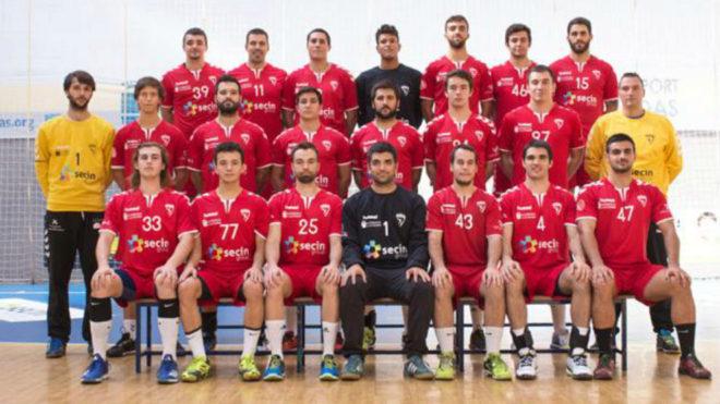 Los jugadores del BM Alcobendas