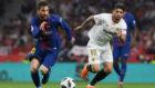 Messi y Banega durante la final de la Copa del Rey.