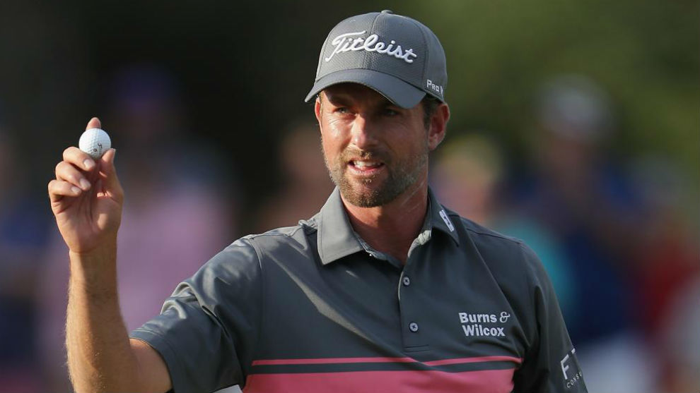 Webb Simpson, durante la tercera jornada de The Players Championship.