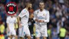 Bale celebra uno de sus goles ante el Celta.