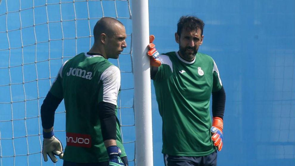 Pau y Diego López, en una sesión.